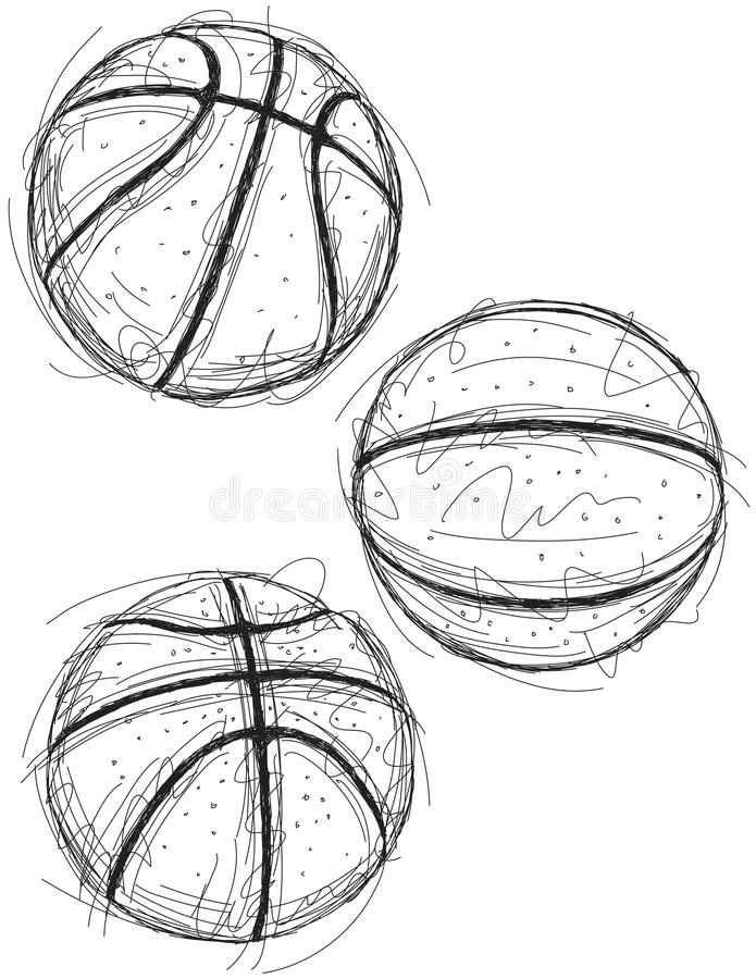 Basketball Sketches Stock Vector. Illustration Of Basketballs - 67979623
