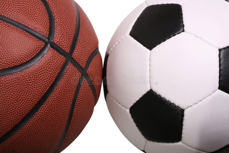 Basketball Soccer royalty free stock image