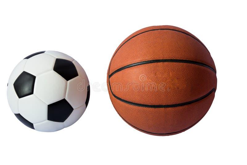 Basketball and soccer ball royalty free stock image