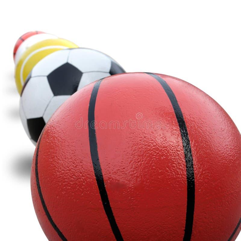Basketball, Soccer, Tennis, and Golf Sport Balls stock photos