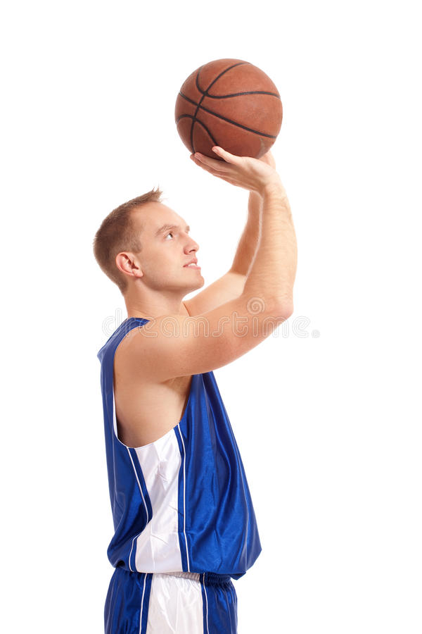 Basketball-Spieler lizenzfreie stockfotografie