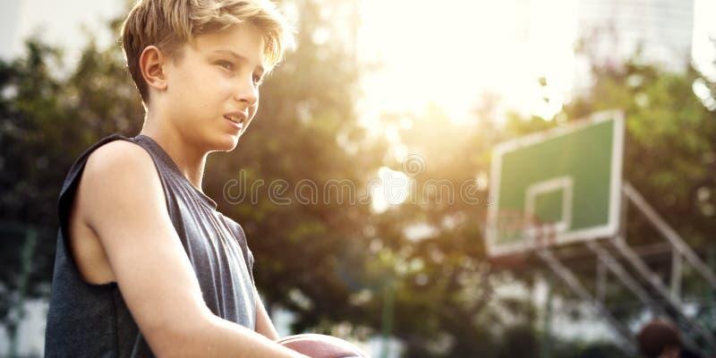 Basketball-Spieler-Athleten-Exercise Sport Stadium-Konzept lizenzfreies stockbild