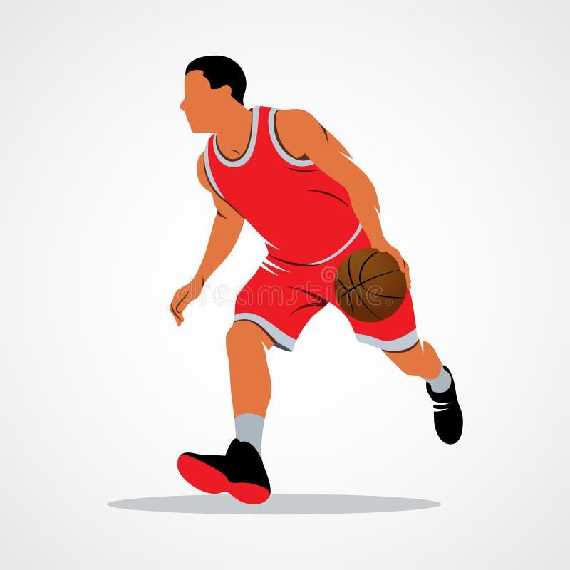 Basketball-Spieler, Ball stock abbildung