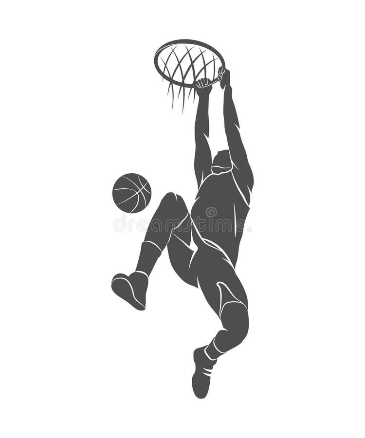 Basketball-Spieler, Ball lizenzfreie abbildung