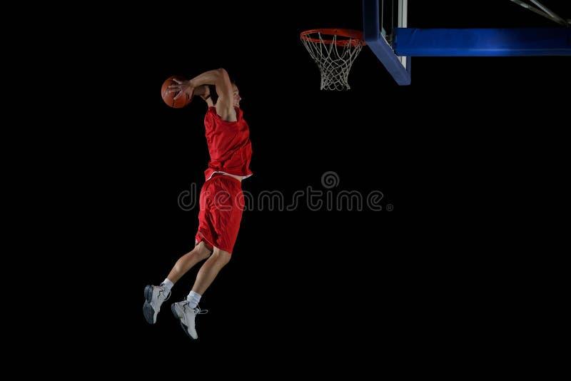 Basketball-Spieler in der Aktion lizenzfreies stockfoto