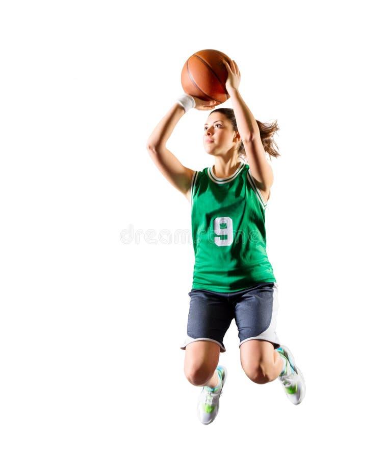 Basketball-Spieler des jungen Mädchens stockbild