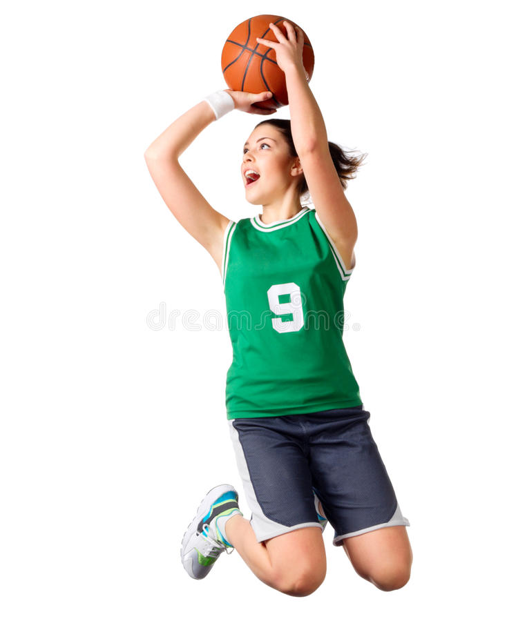 Basketball-Spieler des jungen Mädchens lizenzfreie stockfotografie