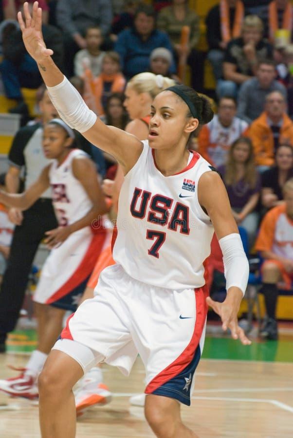 Basketball-Spieler Dupree Candice (US) lizenzfreie stockbilder