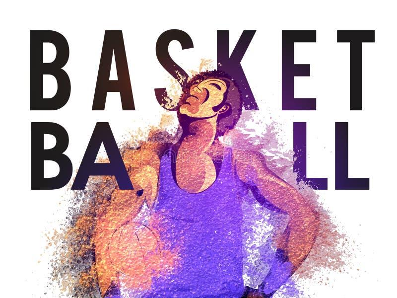 Basketball-Spieler für Sportkonzept stock abbildung