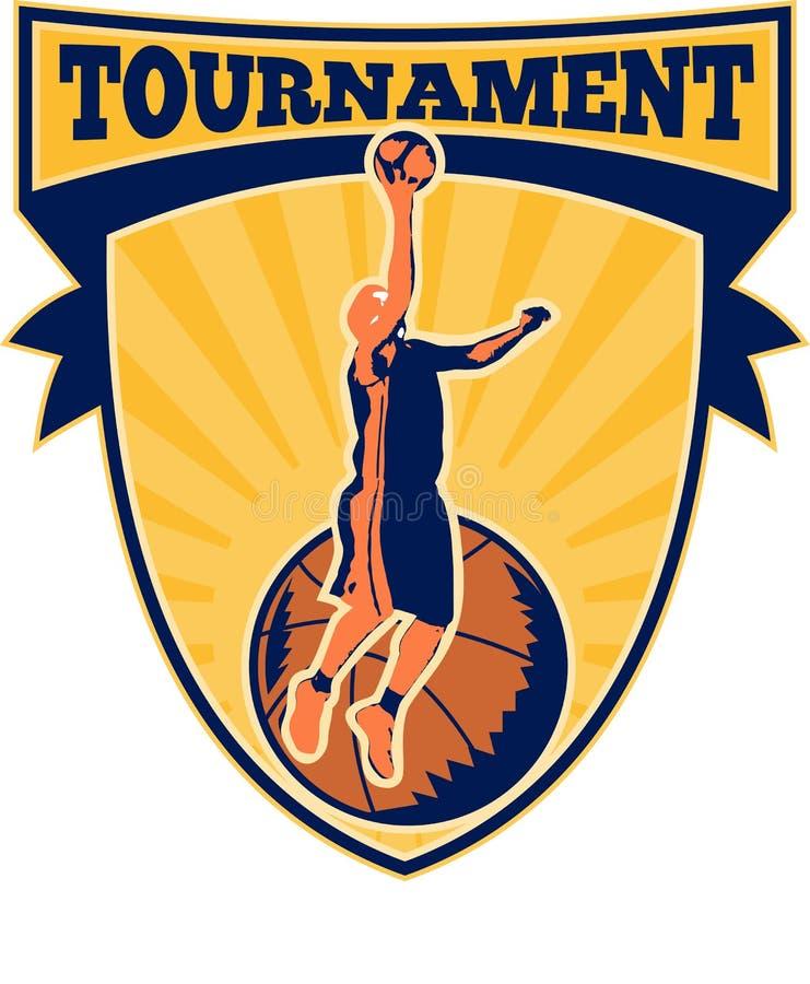 Download Basketball-Spieler Legen-oben Kugel-Schild Stock Abbildung - Illustration von meister, graphiken: 26368295