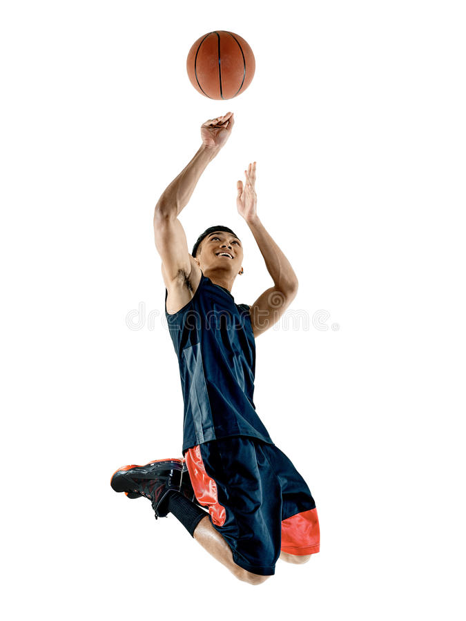 Basketball-Spieler-Mann stockfoto