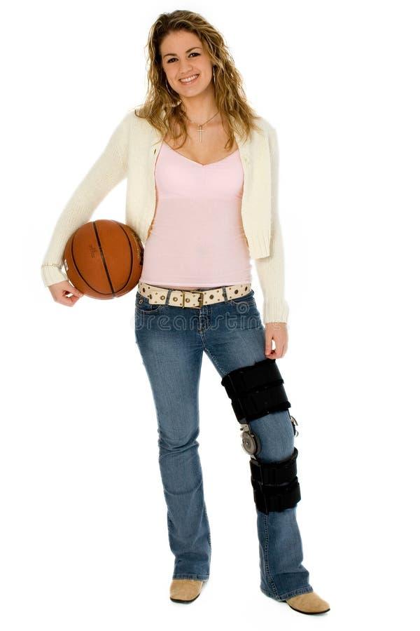 Basketball-Spieler mit Ausschnitts-Pfad lizenzfreies stockfoto
