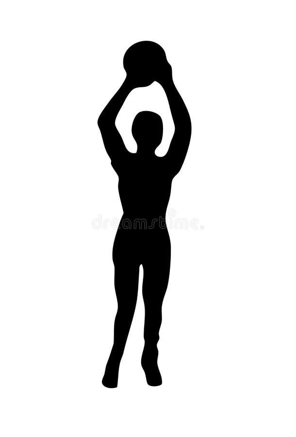 Basketball-Spieler-Schattenbild vektor abbildung