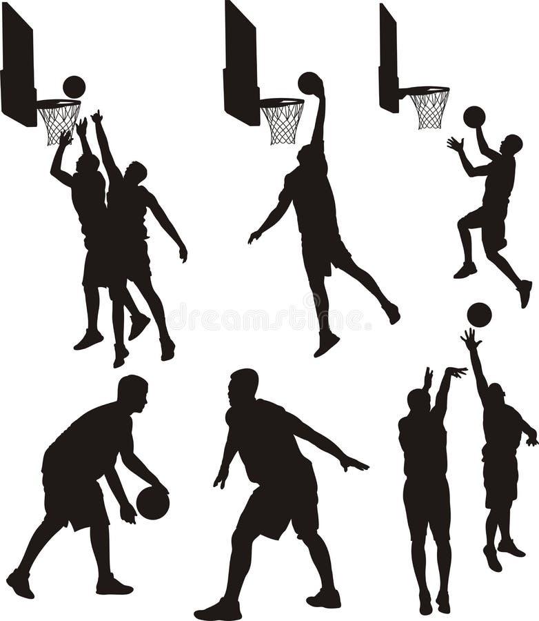 Basketball-Spieler - Schattenbild vektor abbildung