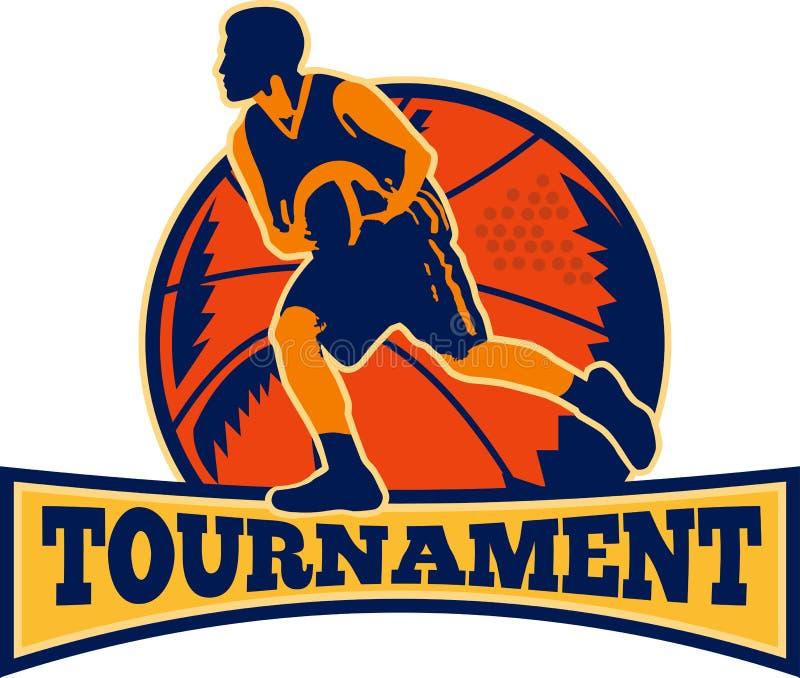 Download Basketball-Spieler-tröpfelnde Kugel Retro- Stock Abbildung - Illustration von endrunden, basketball: 26368301