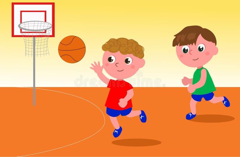 Basketball-Spieler-Vektor stock abbildung