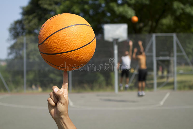 Basketball-Spinnen stockfoto