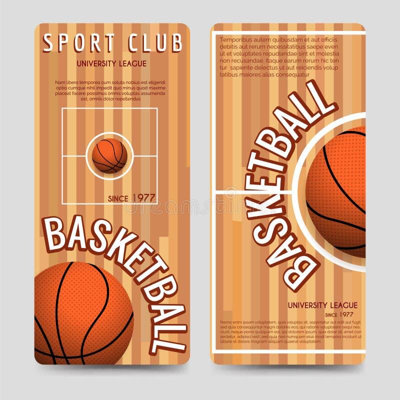 Basketball sport club flyers template stock illustration