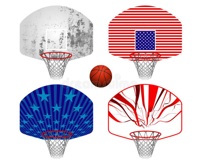 Basketball stands vector illustration