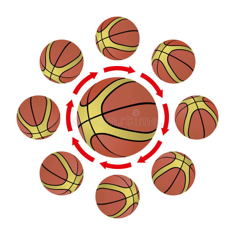 Basketball strategy vector illustration