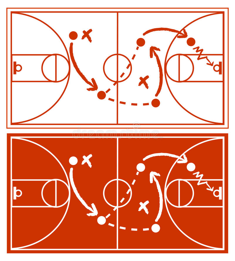 Basketball Strategy Plan. Abstract background vector illustration