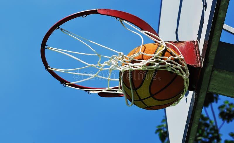 Basketball swish stock image