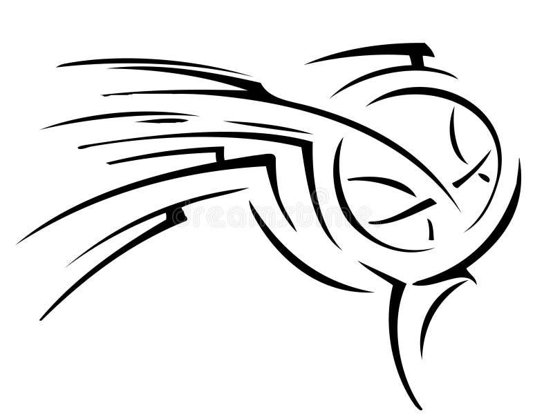 Basketball tattoo stock image