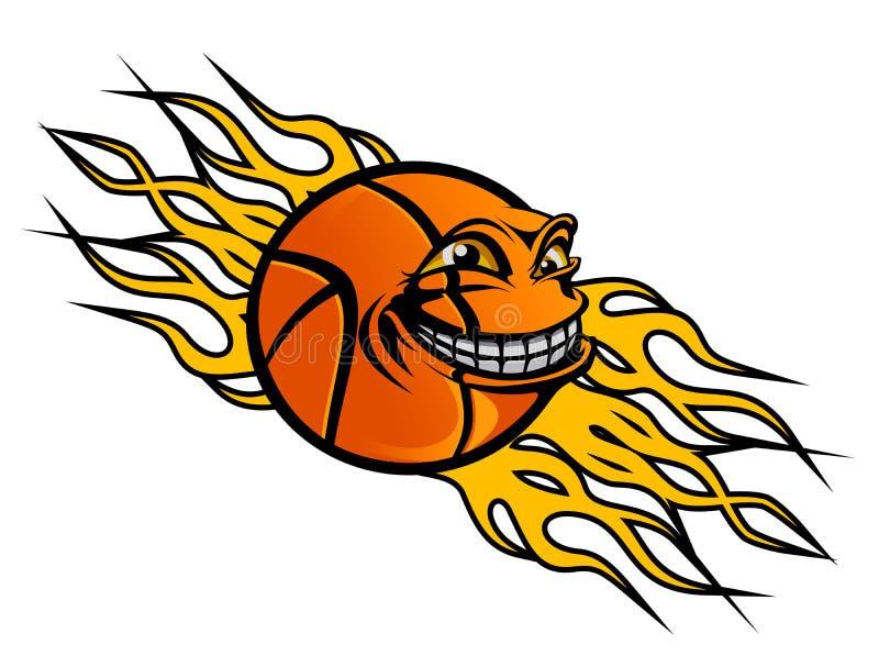 Basketball tattoo royalty free illustration
