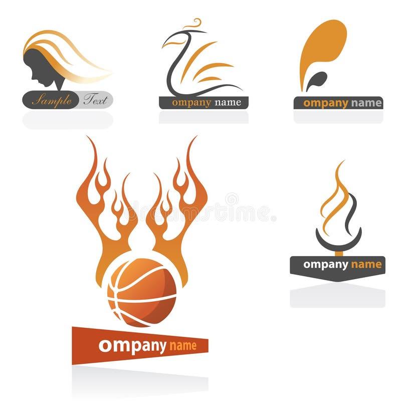 Basketball team logos stock image