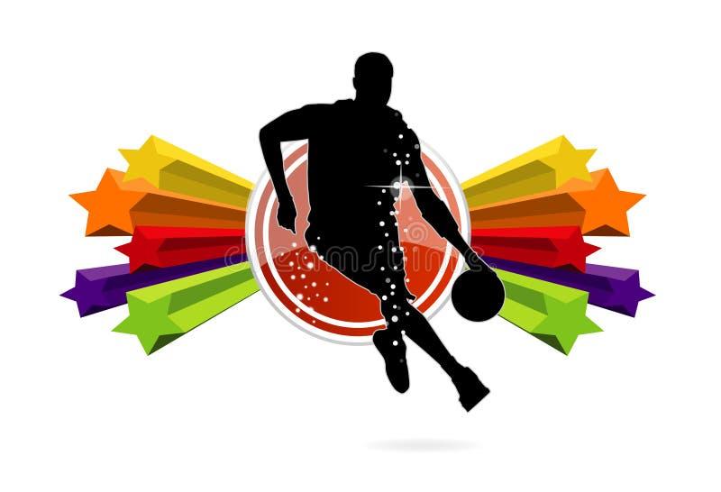 Basketball-Teamzeichen getrennt lizenzfreie abbildung