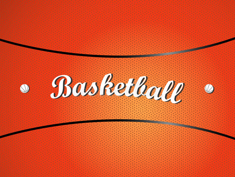 Basketball texture. Vector illustration of a basketball texture with text stock illustration