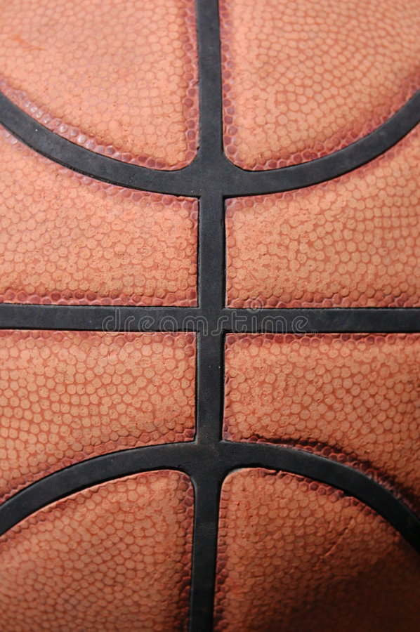 Basketball texture. Close-up view of a basketball stock images