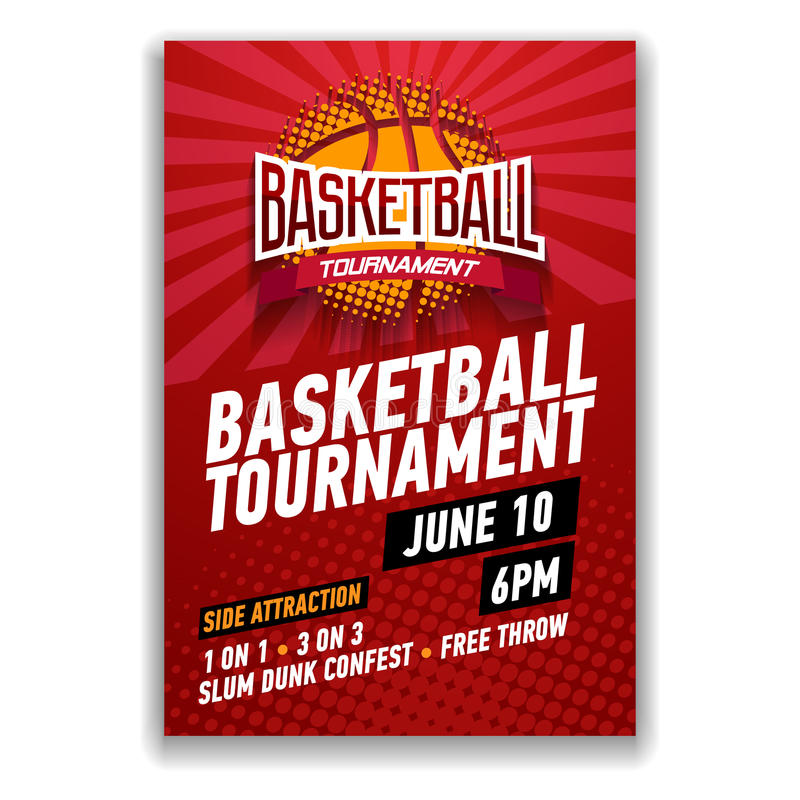 Basketball tournament, modern sports posters design. vector illustration
