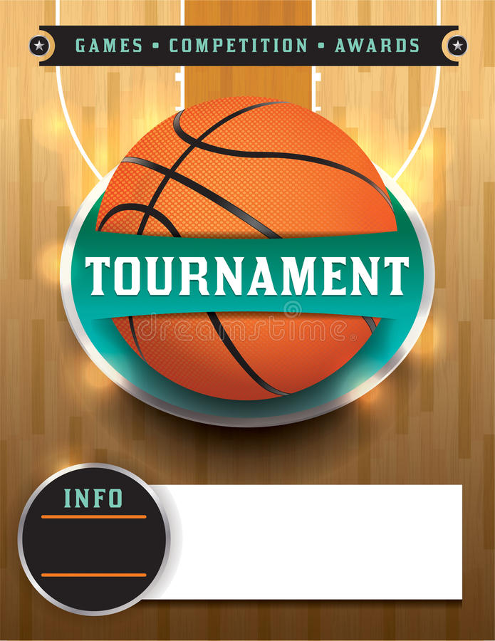 Basketball Tournament Template Stock Vector  Illustration Of