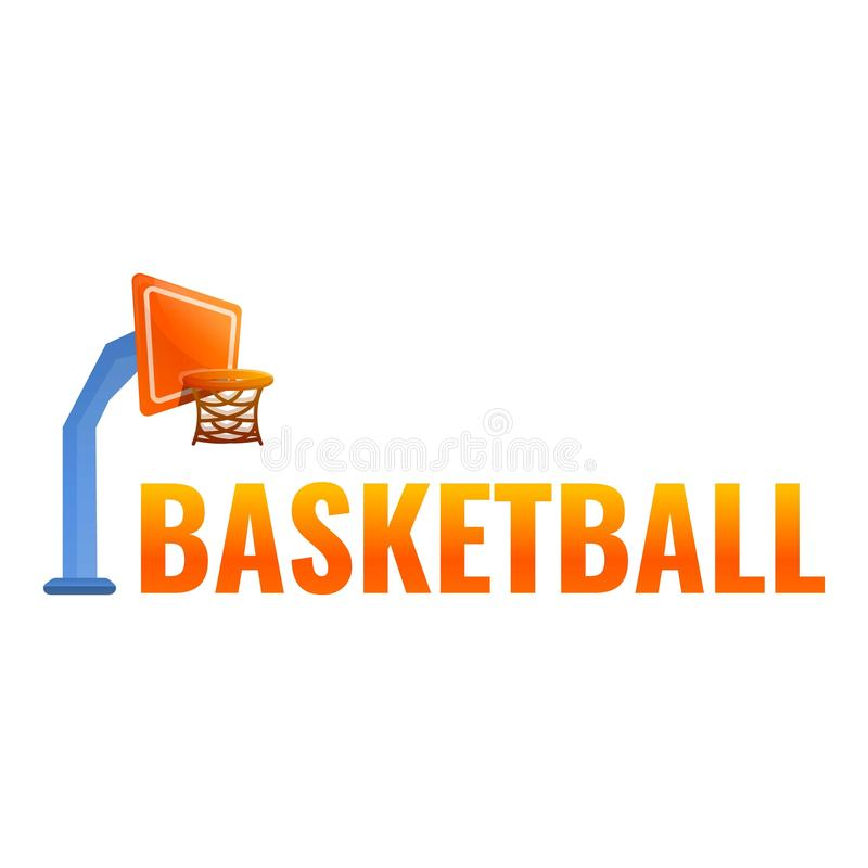 Basketball tower logo, cartoon style royalty free illustration