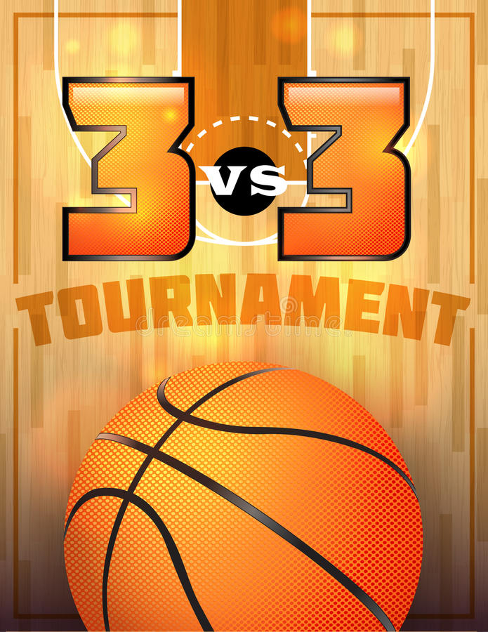 Basketball-Turnier-Plakat vektor abbildung. Illustration von ...
