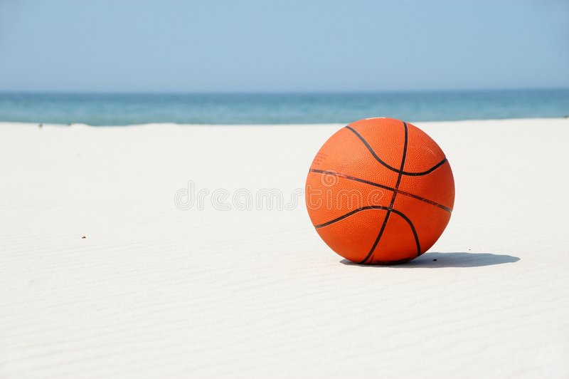 Basketball on vacation... stock images