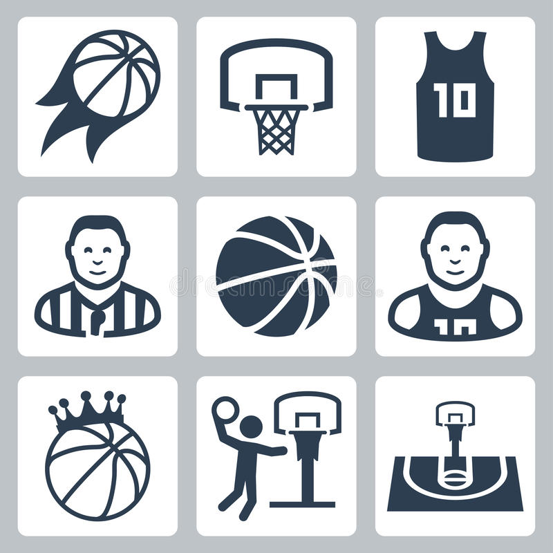 Basketball vector icons vector illustration