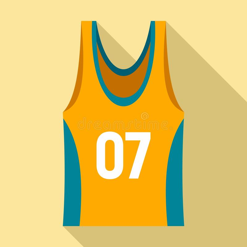 Basketball vest icon, flat style vector illustration
