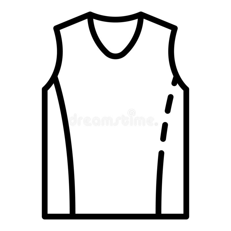 Basketball vest icon, outline style royalty free illustration