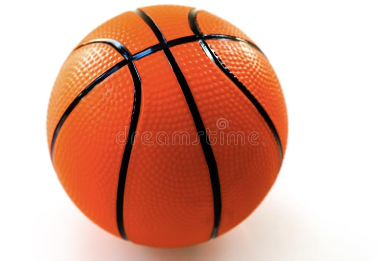 Basketball on white background as a sports and fitness activity stock photos