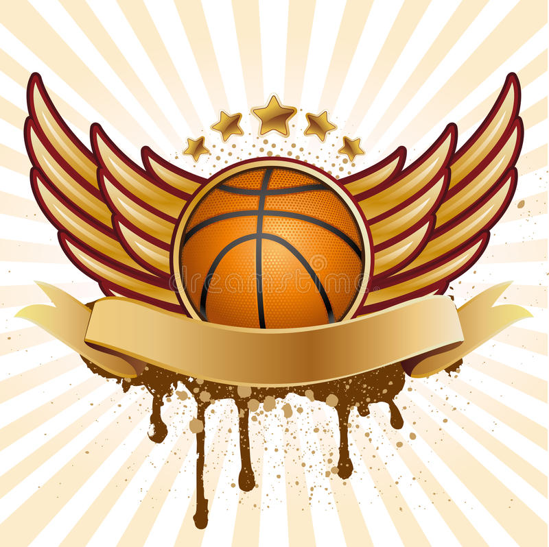 Download Basketball and wing stock vector. Image of elegance, gold - 15755073