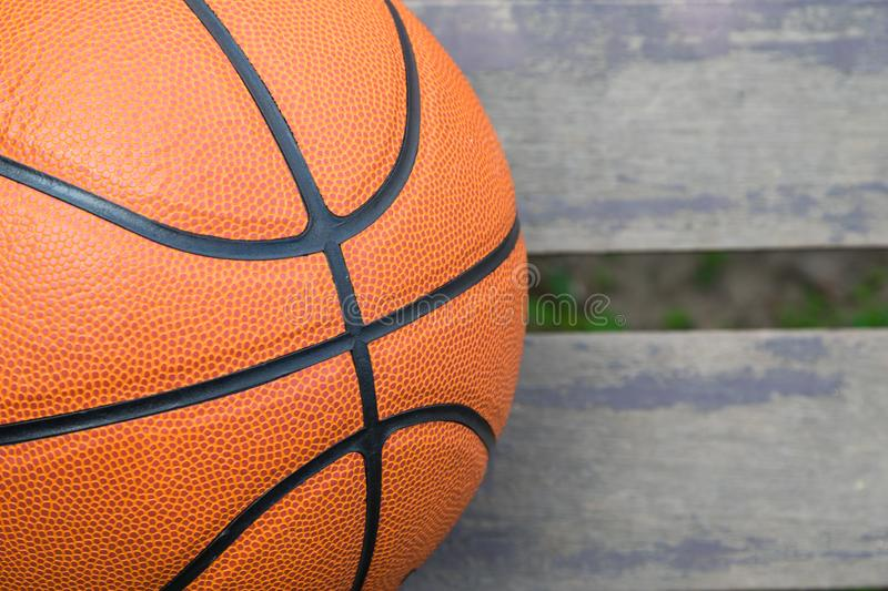 Basketball on wood for background royalty free stock images