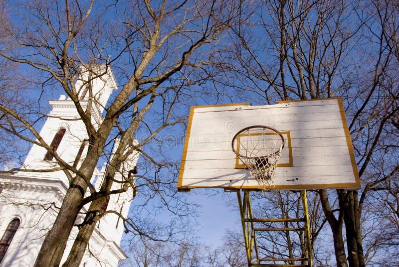 Download Basketball Yard Near Church. Stock Image - Image: 20624051