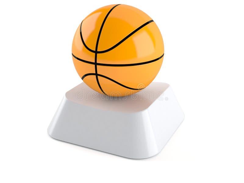 Basketballball auf Computerschlüssel vektor abbildung