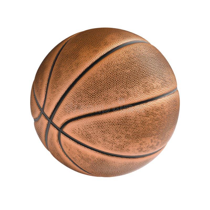 Basketballball auf dem weißen Hintergrund lizenzfreie abbildung