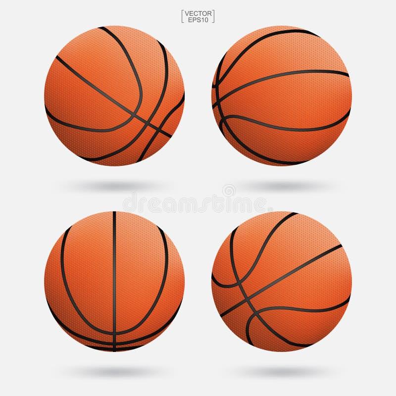 Basketballball lokalisiert auf weißem Hintergrund Auch im corel abgehobenen Betrag stock abbildung