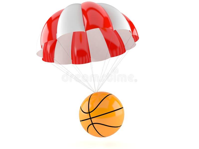 Basketballball mit Fallschirm vektor abbildung