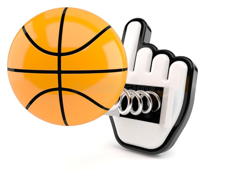 Basketballball mit Netz-Cursor stock abbildung
