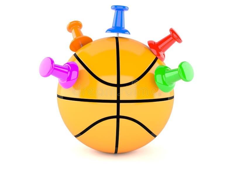 Basketballball mit Rei?zwecken vektor abbildung